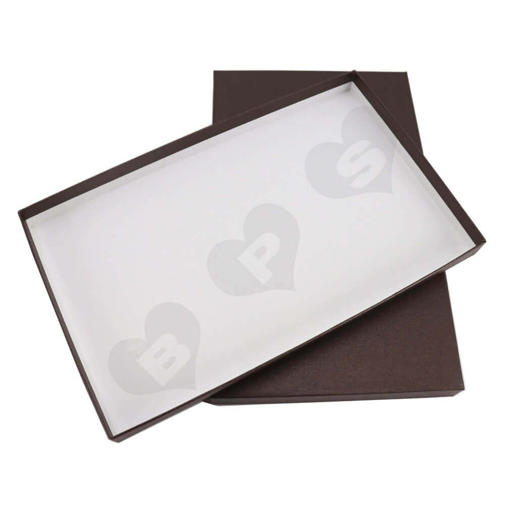 Luxury Gift Box With Gold Foil Stamping For Scarf Side View Two