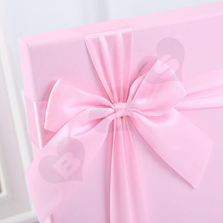 Luxury Pink Rigid Box For Chocolate side view four