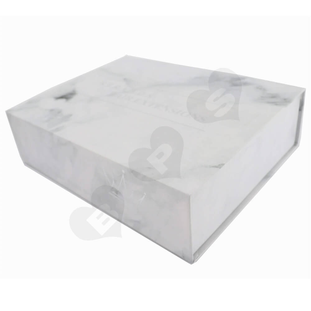 Luxury Wig Packaging Boxes with Silver Stamping side view one