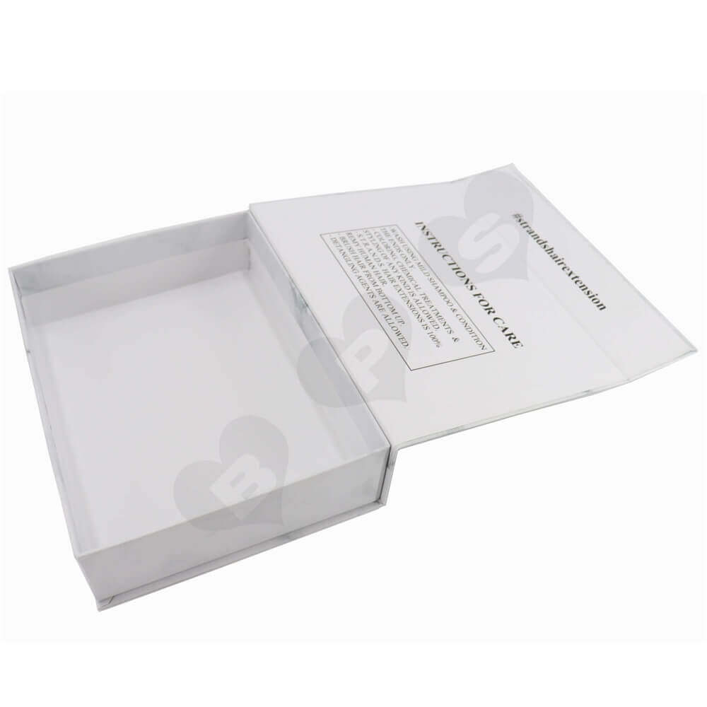 Luxury Wig Packaging Boxes with Silver Stamping side view two