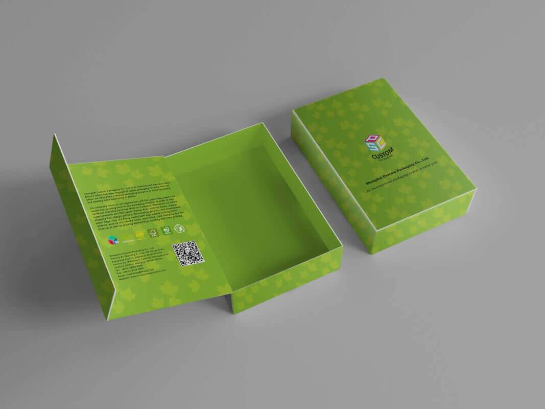 Magnetic Closure Rigid Cardboard Box Mockup Design