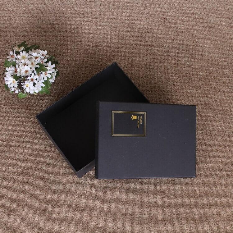 Matte Black Gift Box For Belt side view four