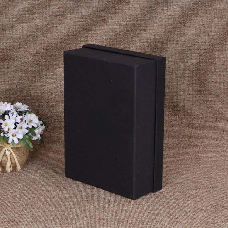 Matte Black Gift Box For Belt side view three