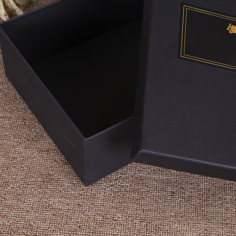 Matte Black Gift Box For Belt side view two