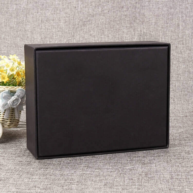 Matte Black Gift Box For Internet of Things Devices side view three