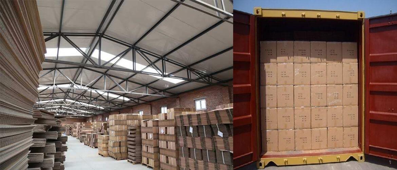 Palletized Carton Boxes Shipping Loading
