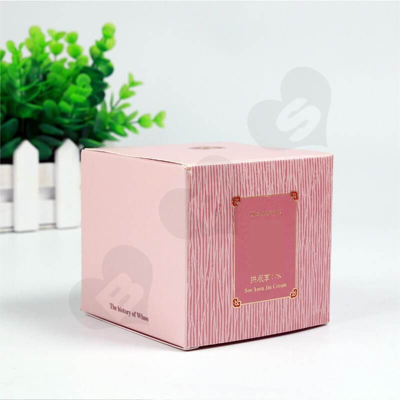 Personalised Cube Cardboard Gift Box For Perfume side view one