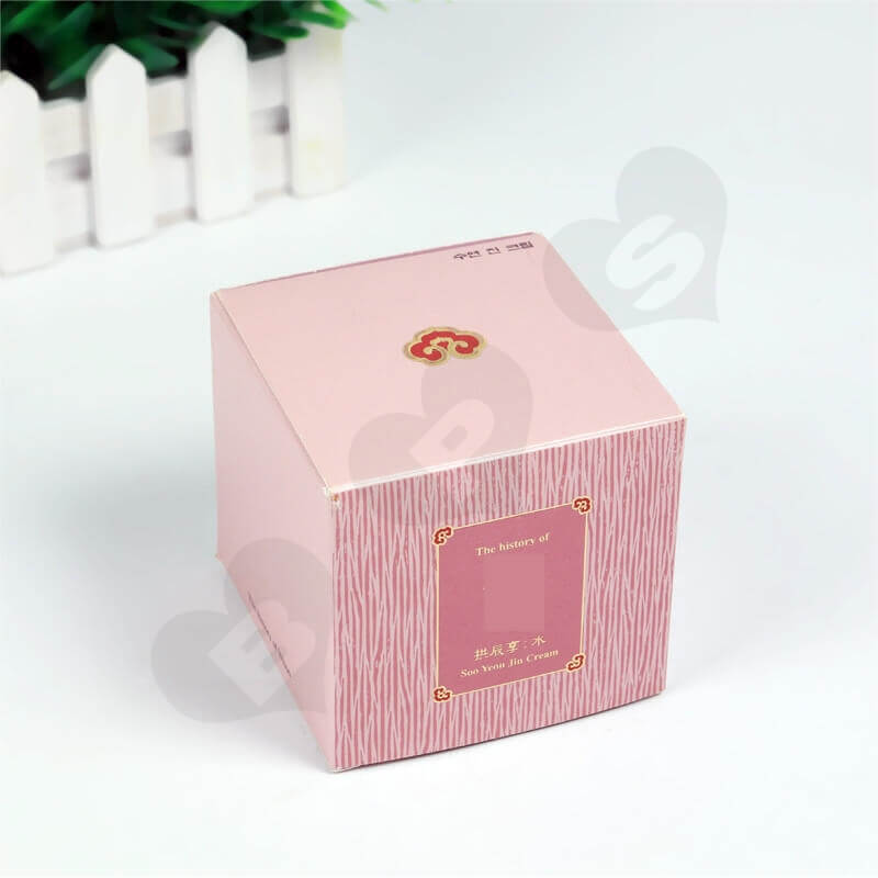 Personalised Cube Cardboard Gift Box For Perfume side view six
