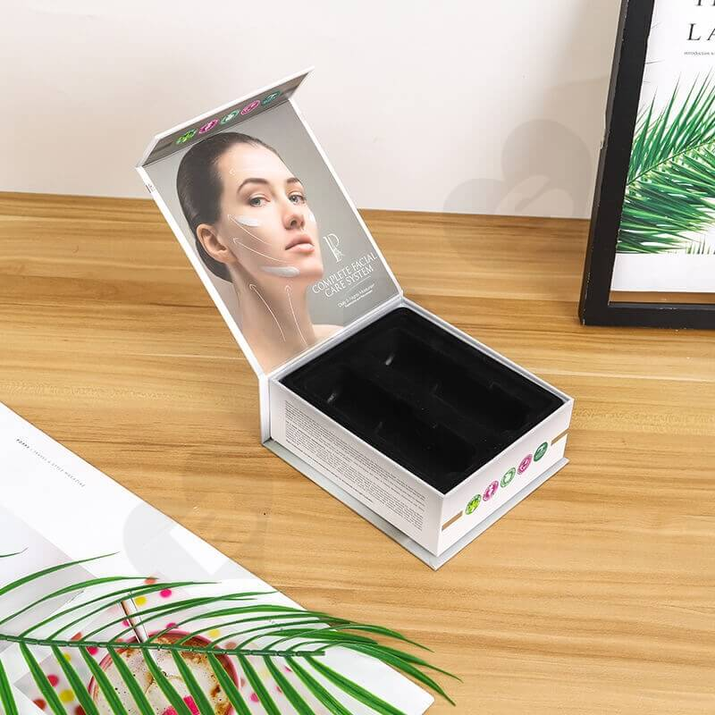 Printed Cardboard Box For Complete Facial Care System side view one