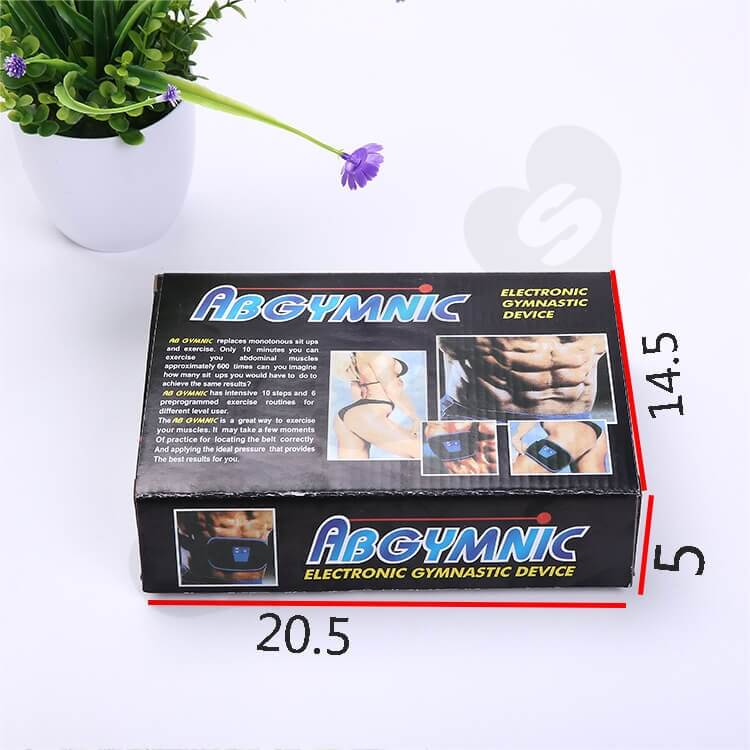 Printed Corrugated Box For Electronic Gymnastic Device side view five