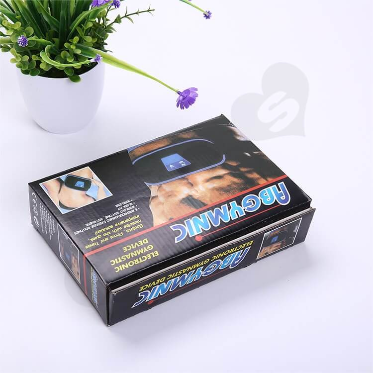 Printed Corrugated Box For Electronic Gymnastic Device side view four