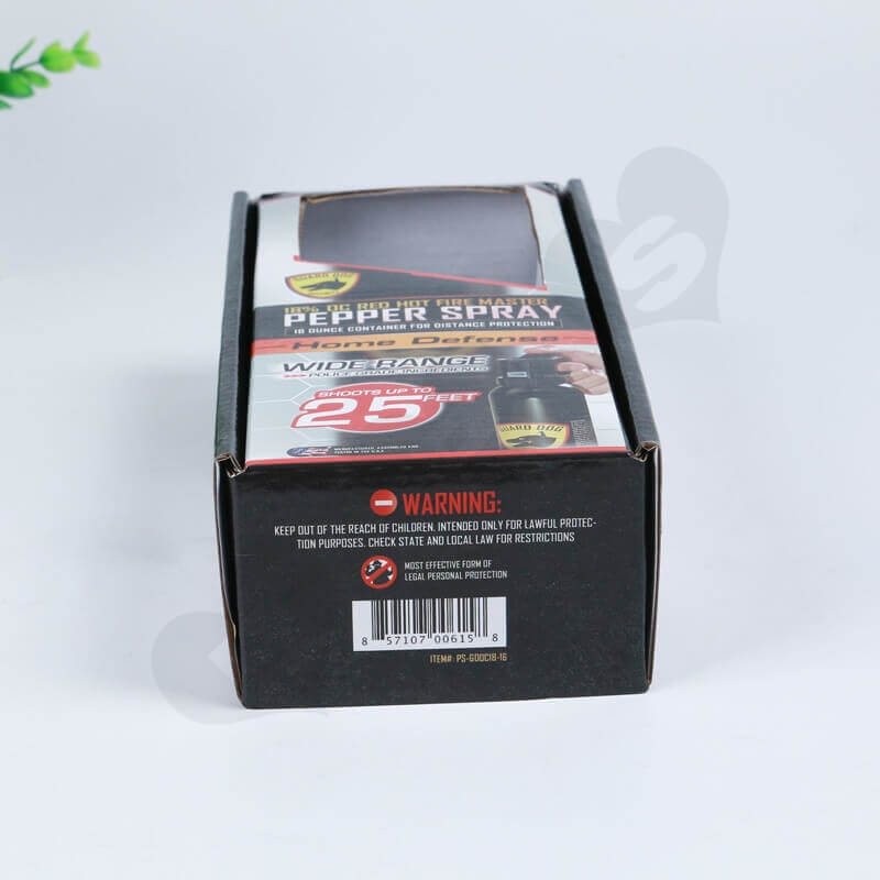 Printed Corrugated Box For Hot Pepper Spray side view four