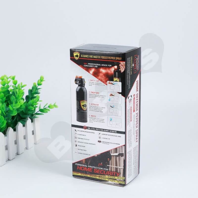 Printed Corrugated Box For Hot Pepper Spray side view three