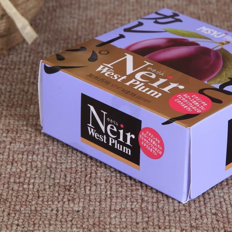Printed Retail Cardboard Box For Dry Nuts And Fruits side view two