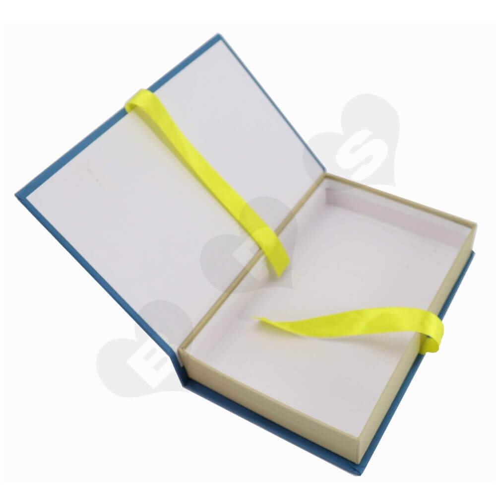 Ribbon Closure Book Box side view two