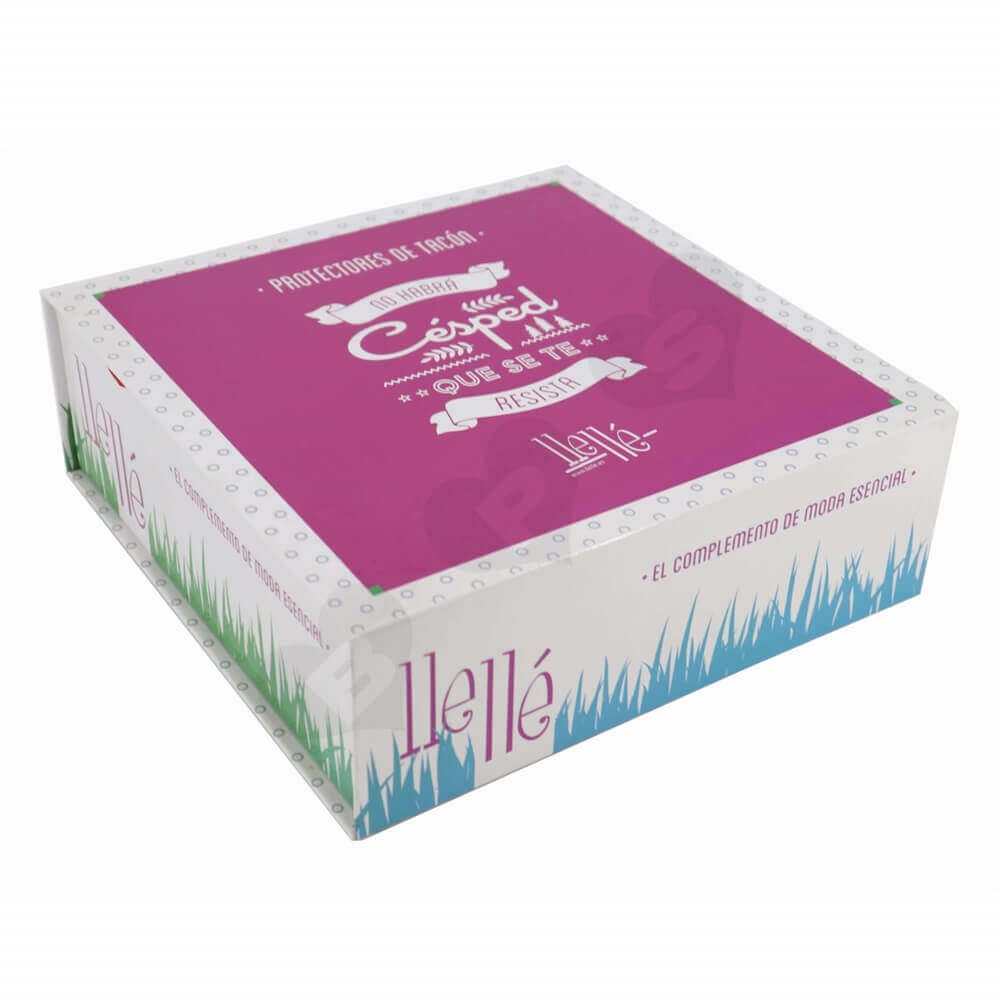 Rigid Cardboard High Heels Box side view three