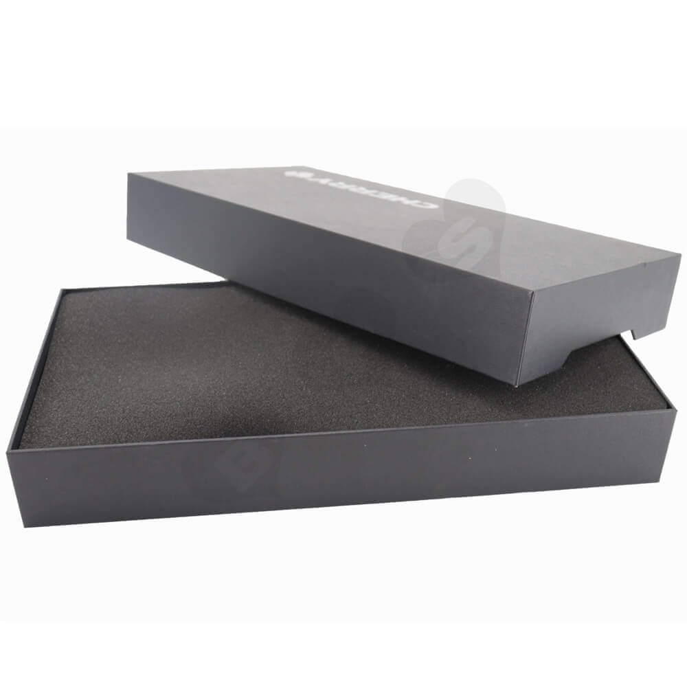 Rigid Cardboard Keyboard Packaging Boxes With Sleeve Side View Four