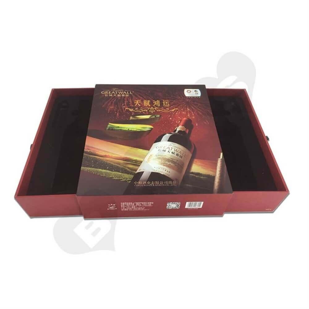 Rigid Wine Drawer Box side view five