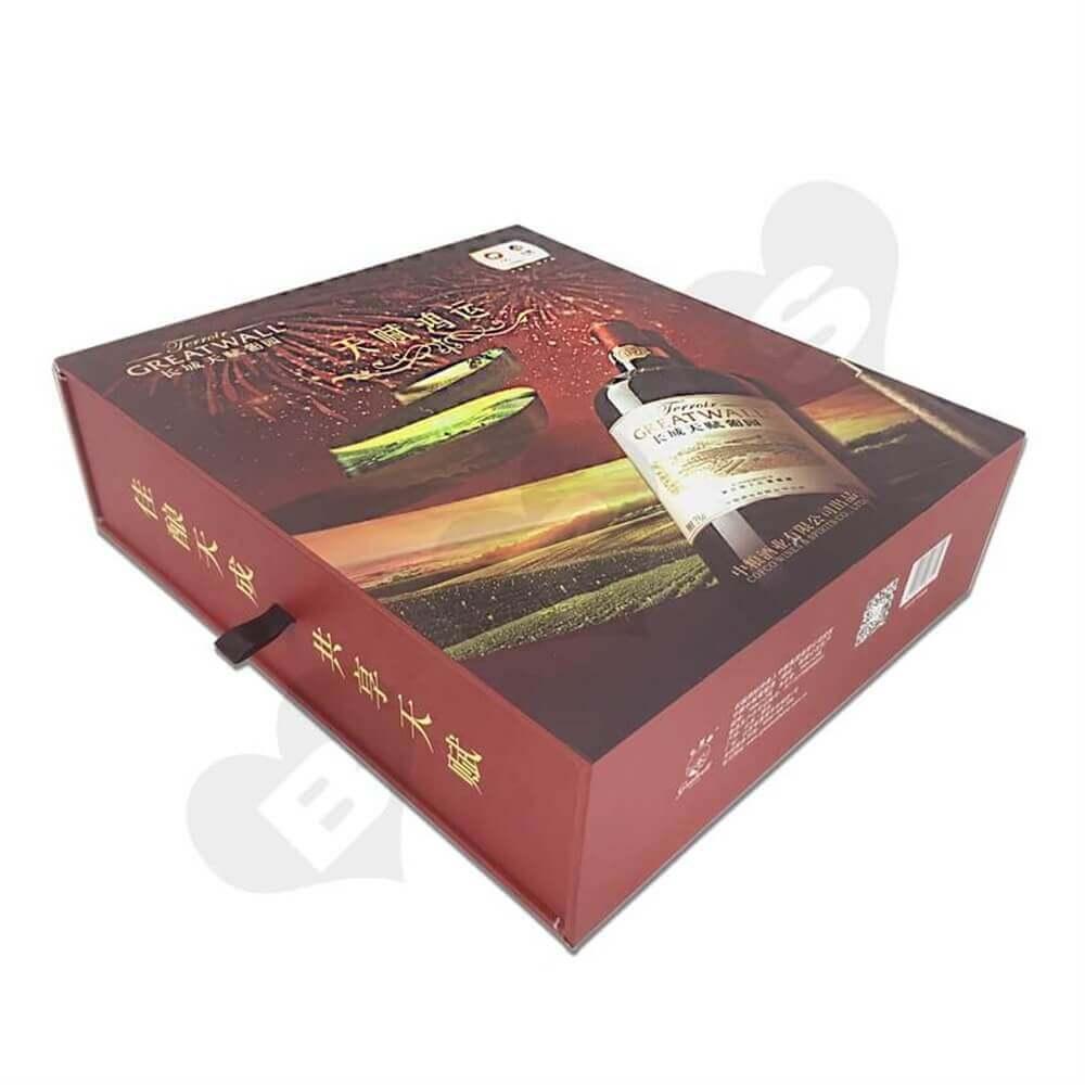Rigid Wine Drawer Box side view one