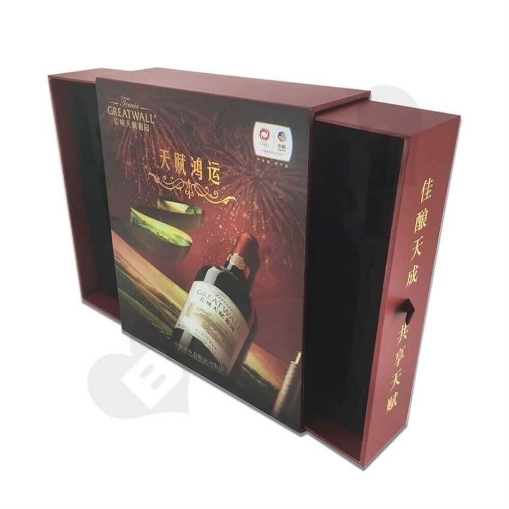 Rigid Wine Drawer Box side view seven