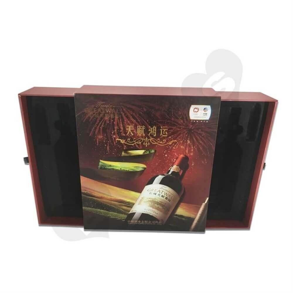 Rigid Wine Drawer Box side view six