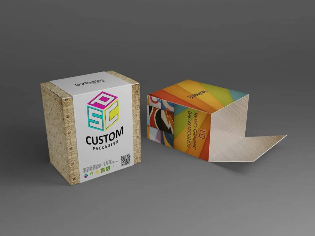 Snap lock bottom cardboard box with printed sleeves