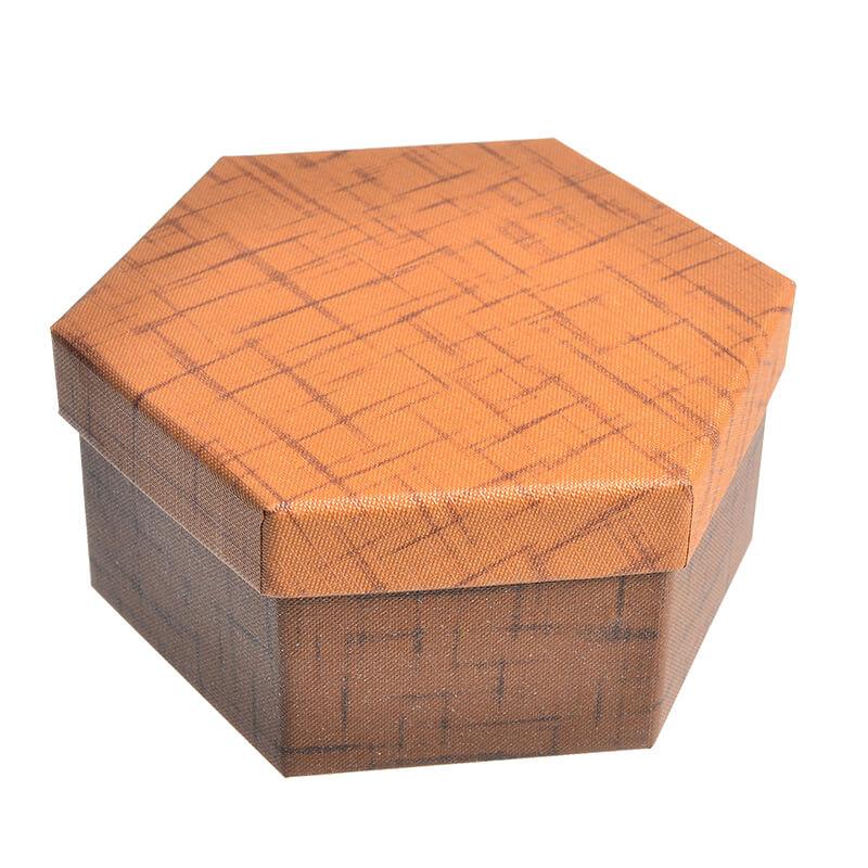 Specialty Textured Hexagon Cardboard Box
