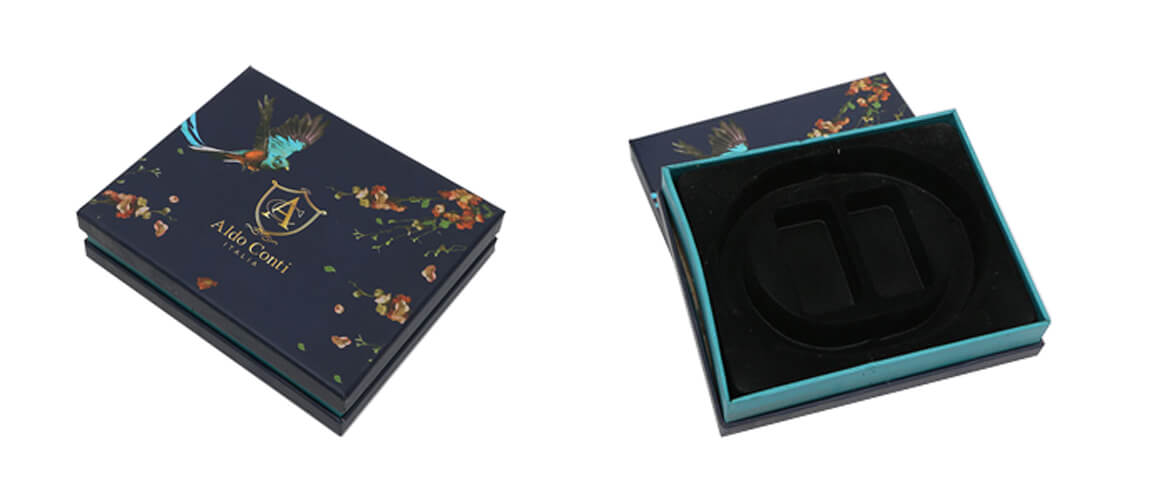 Tray and cover gift box with cutted foam inserts for organic healthy products