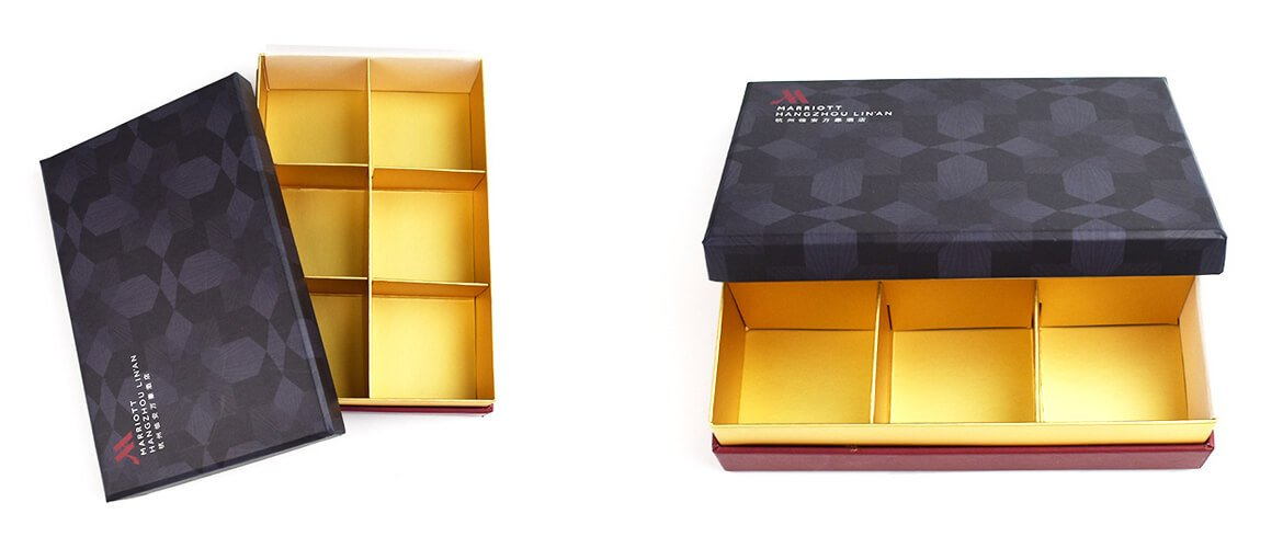 Well decorated gift box with divider insert and ribbons for Chocolate