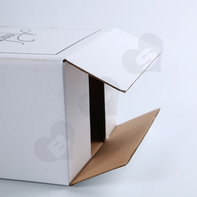 White Kraft Shipping Box For Wine side view five