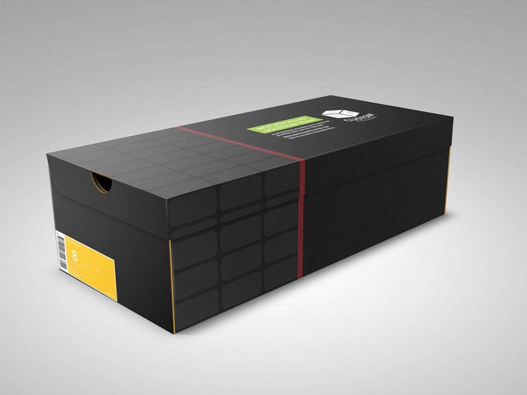 custom shoe boxes with logo spot UV