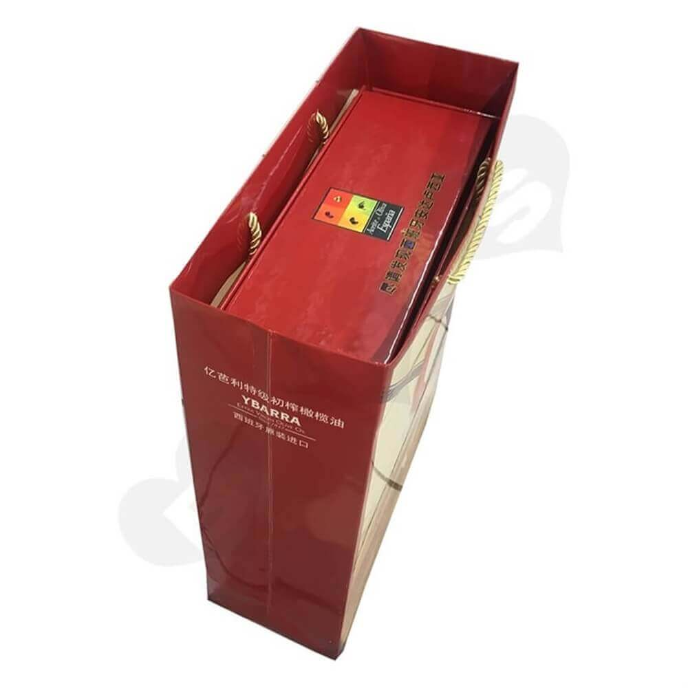 oil packaging box Sideview Six