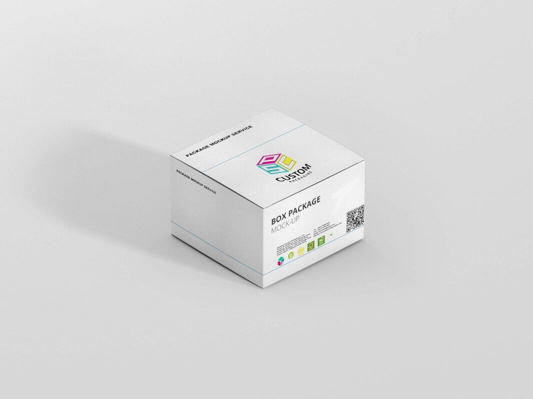snap bottom medical packaging box mockup