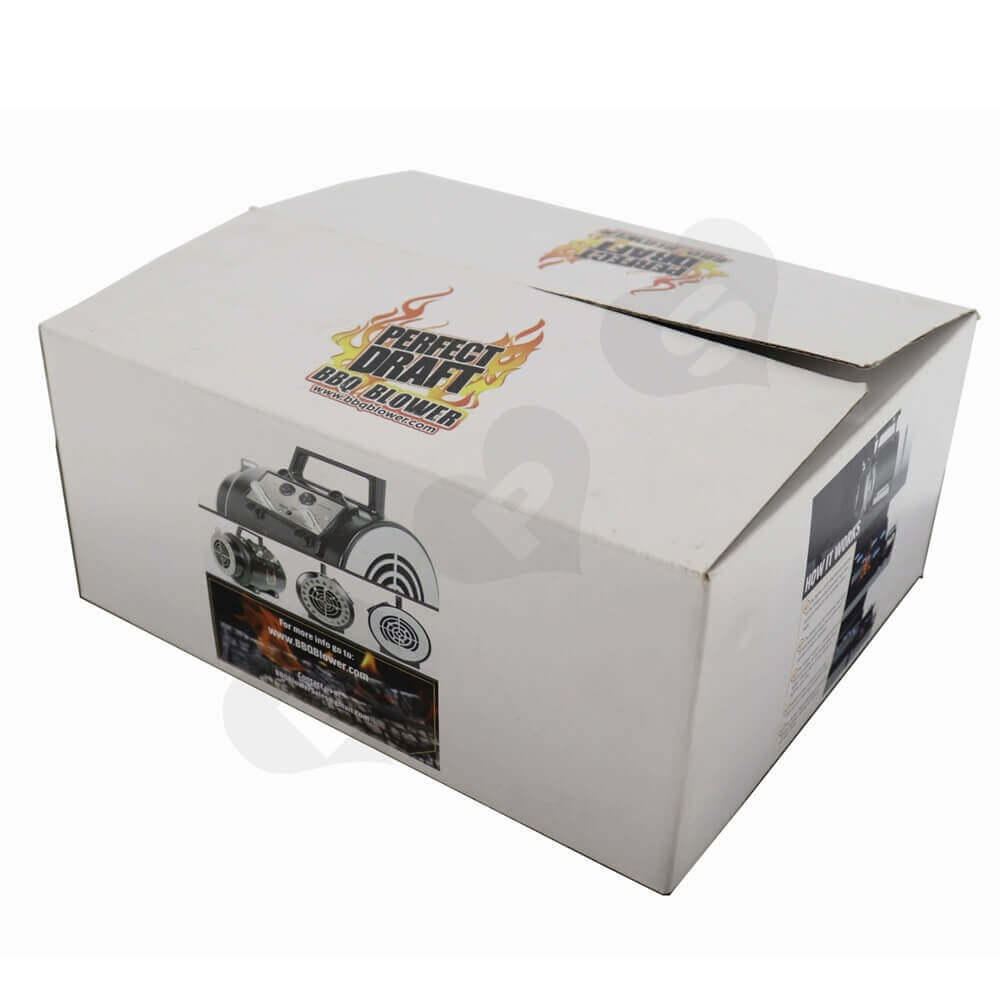 Bbq Blower Corrugated Packaging Boxes Side View Three