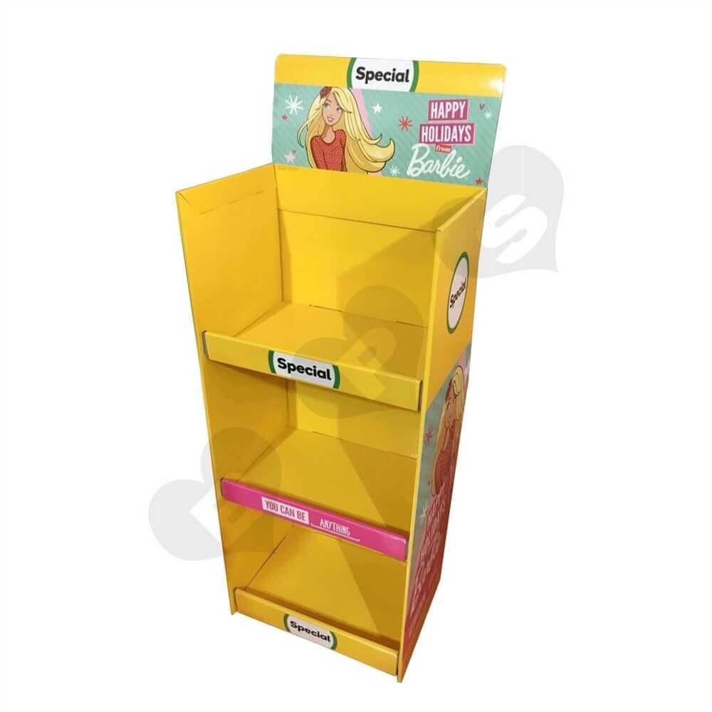 Cardboard Barbie Display Boxes Sideview One