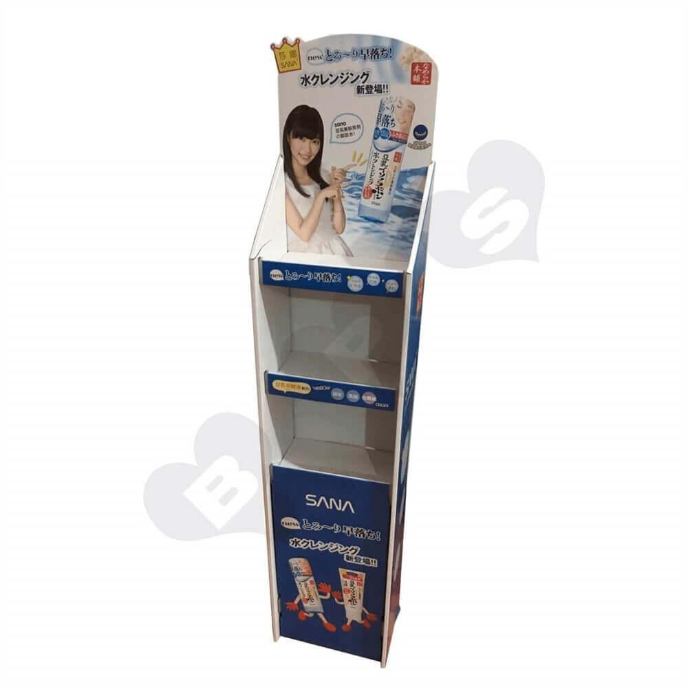 Cardboard Corrugated Cosmetic Shelf Sideview Four