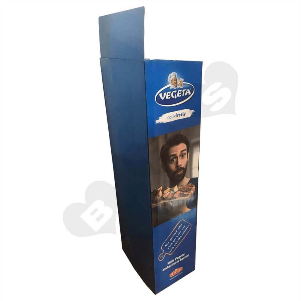 Cardboard POS Food Shelf Sideview Four