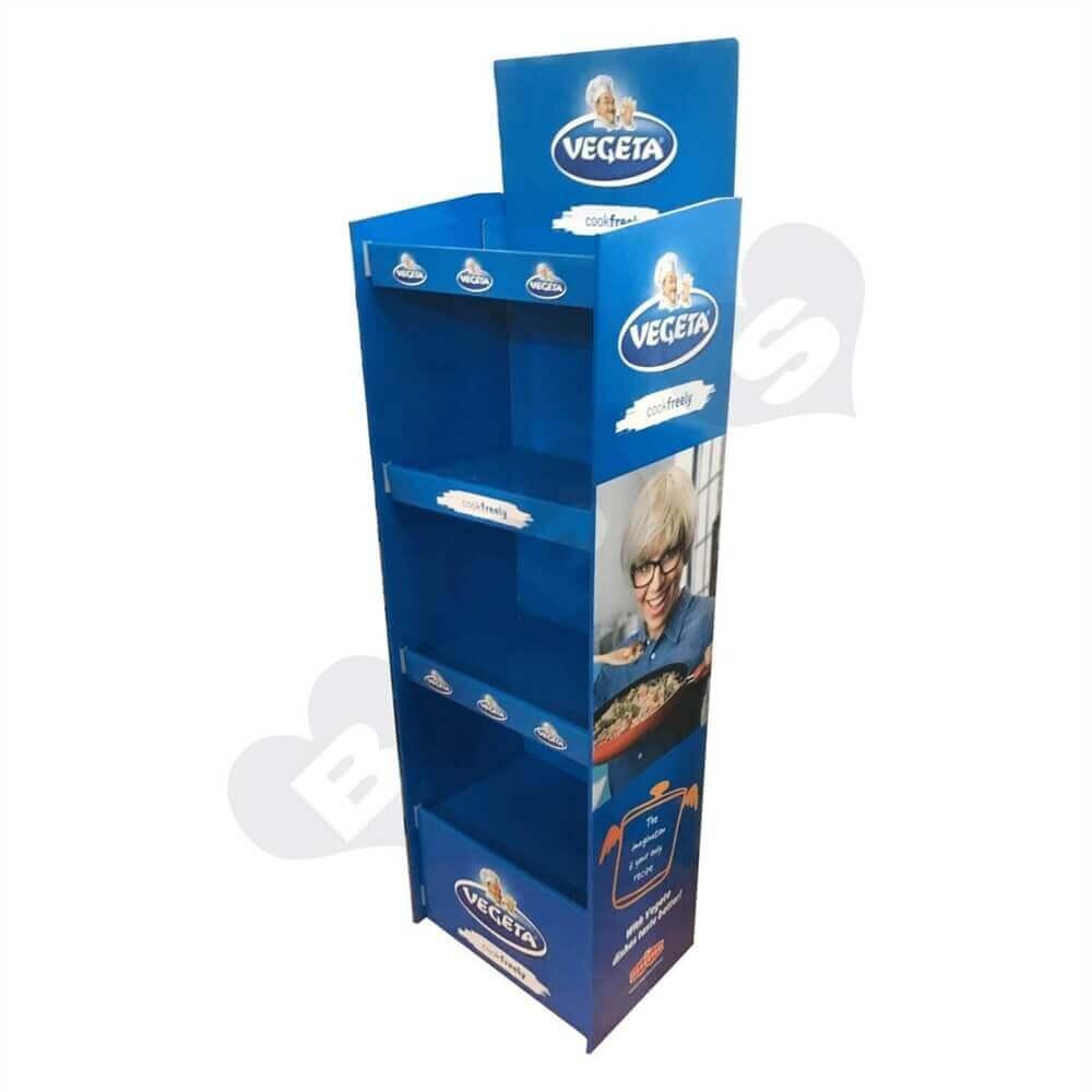 Cardboard POS Food Shelf Sideview One