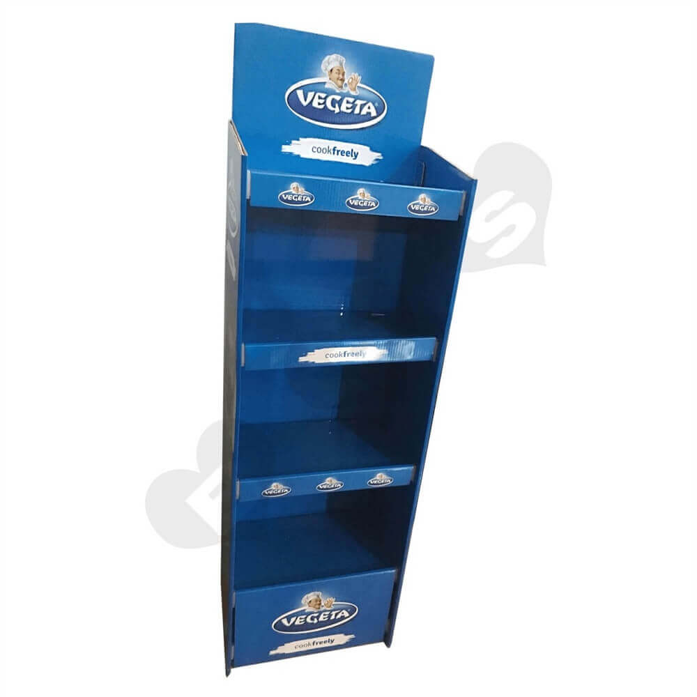 Cardboard POS Food Shelf Sideview Two