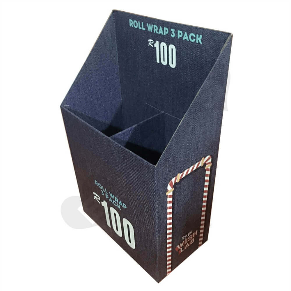 Custom Cardboard Dump Bin with Divider Sideview One
