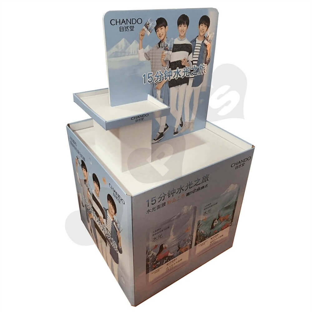 Custom Cosmetic Pallet Displays Sideview One