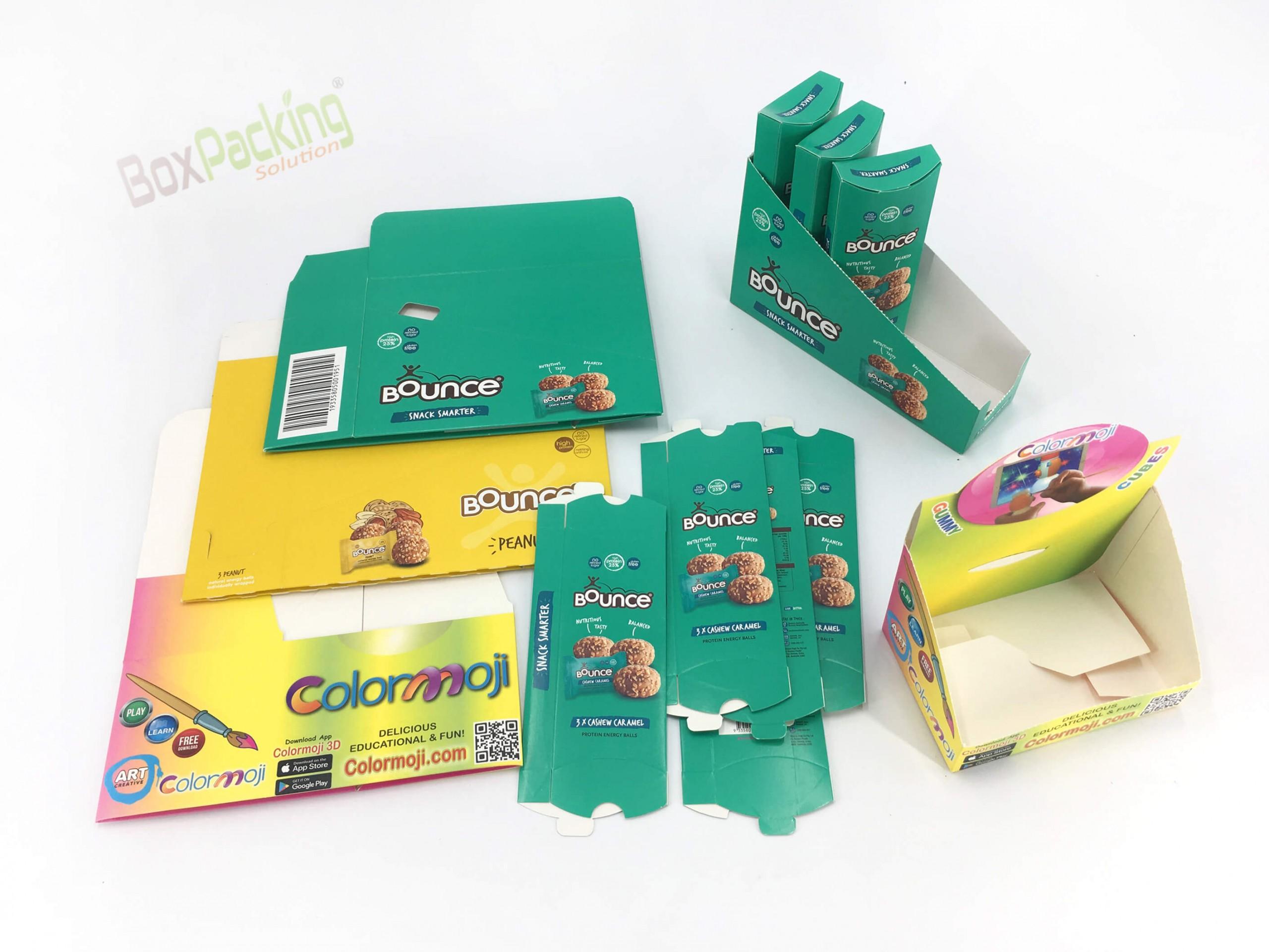 Custom Folding Cartons for Snacks
