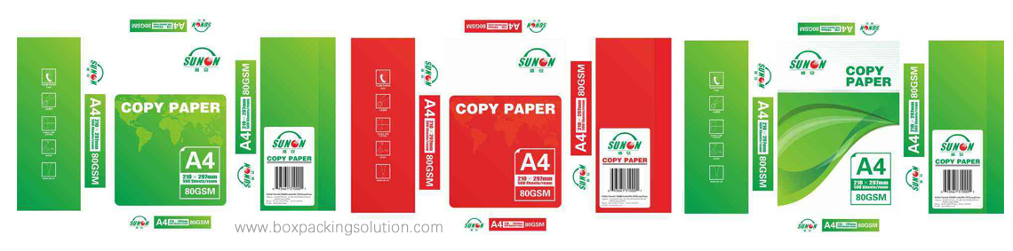 Custom Printed A4 Copy Paper Ream wrappers design template