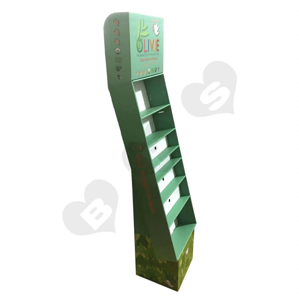Large Customized Corrugated Floor Display Sideview Four