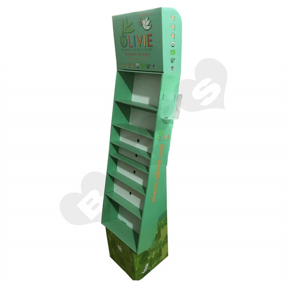 Large Customized Corrugated Floor Display Sideview Two