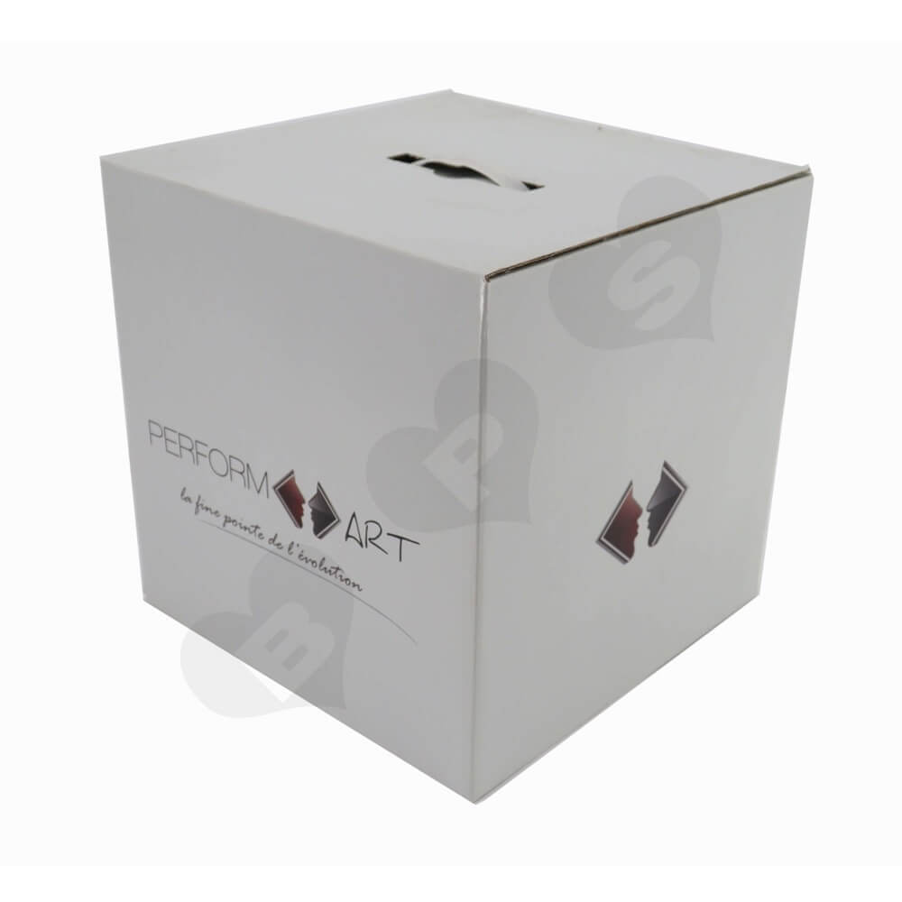 Transdermal Cosmetic Device Shipping Carton Side View Two