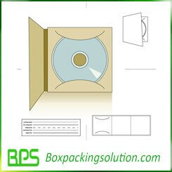 CD packaging folder template design