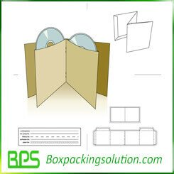 Free CD packaging foding box templates