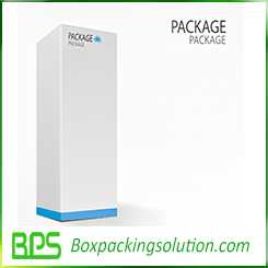Hinged top rigid box design template