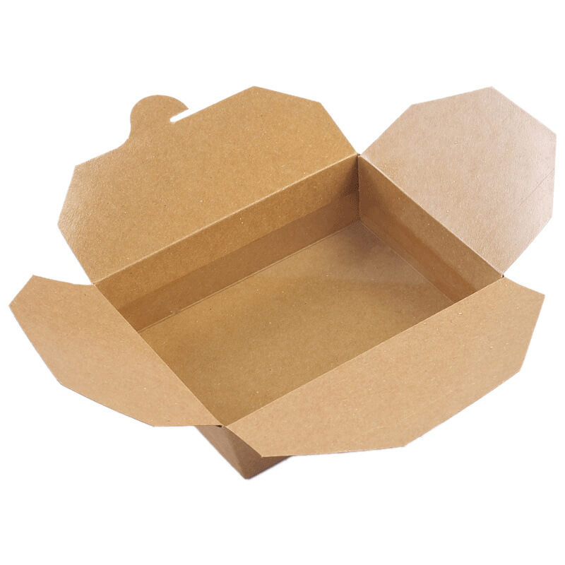 Salad Packing Kraft Paper Box With Oil Proof Liner